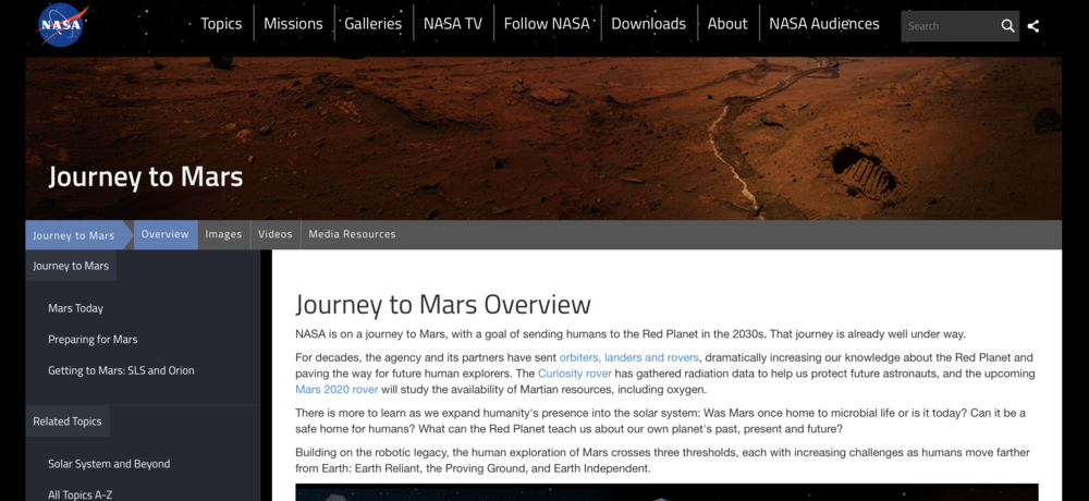 NASA's journey to Mars - What the space agency thinks the challenges are and what it will take to tackle them.