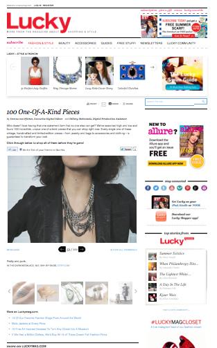 Lucky Magazine, 2013