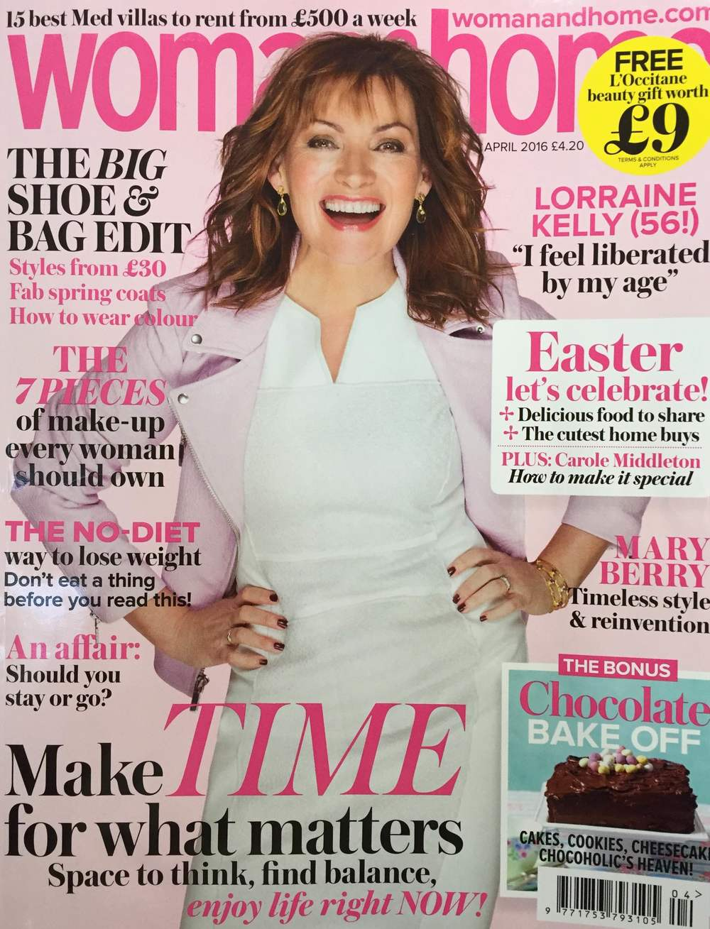 Woman and Home magazine Lorraine Kelly Cover UK April 2016
