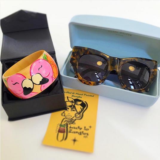 flamingo bangle karen walker faithful sunglasses