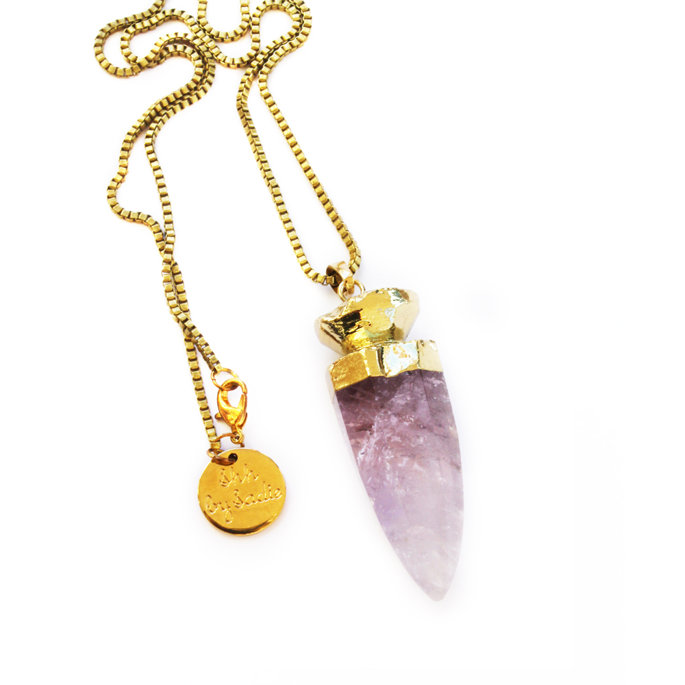 amethyst necklace boho jewelry boho style bohemian shh by sadie