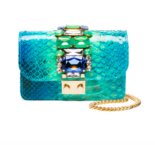 gedebe embellished snakeskin designer bag