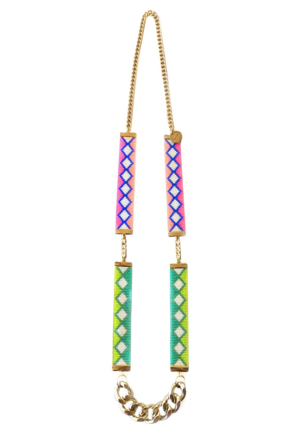 Copy of bright statement necklace designer jewelry by British fashion designer shh by sadie