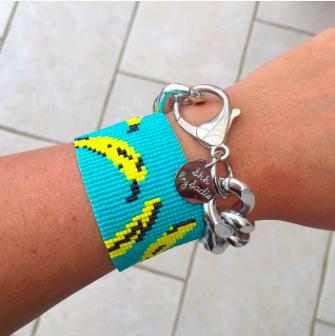 Shh by Sadie banana print cuff bracelet