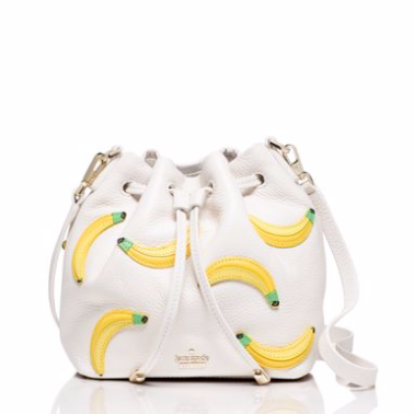 Kate spade banana print mini bucket bag