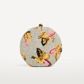 Zara beaded banana print bag