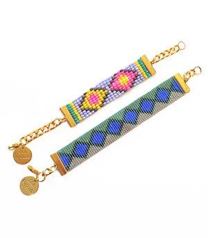 Designer bracelets handmade in UK by British designer