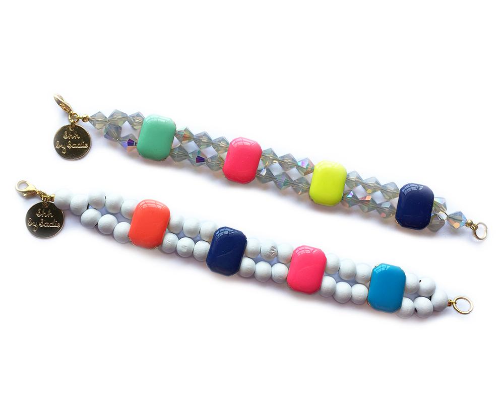 tutti frutti bright beaded designer bracelets