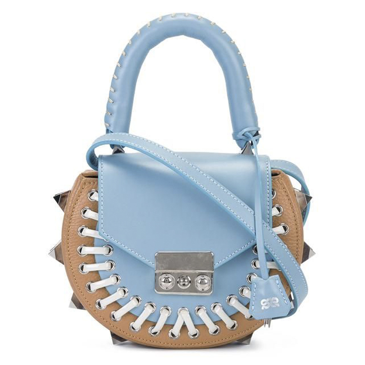 blue leather salar mimi bag