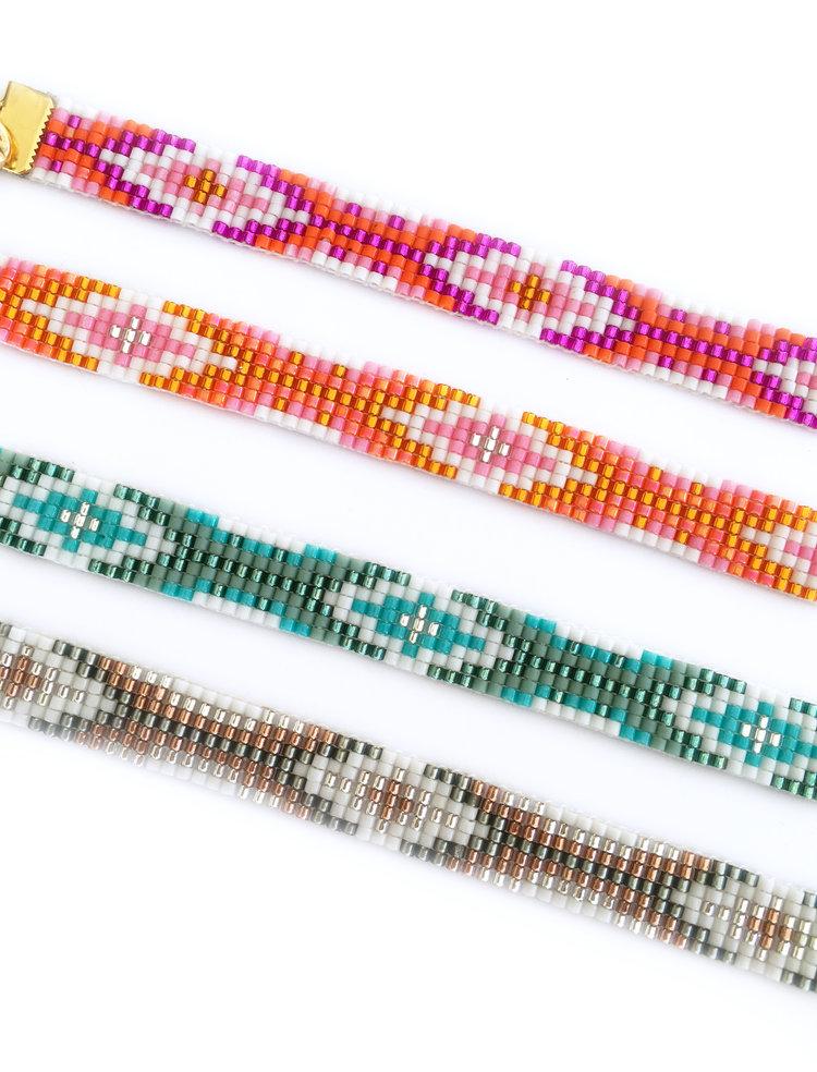 Colourful handmade boho luxe bracelets