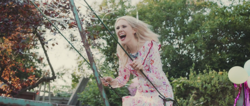 Kate Nash Good Summer video featuring Shh by Sadie crystal quartz statement necklace