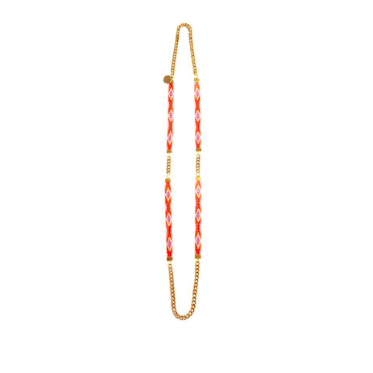 long orange necklace festival and resort summer jewellery