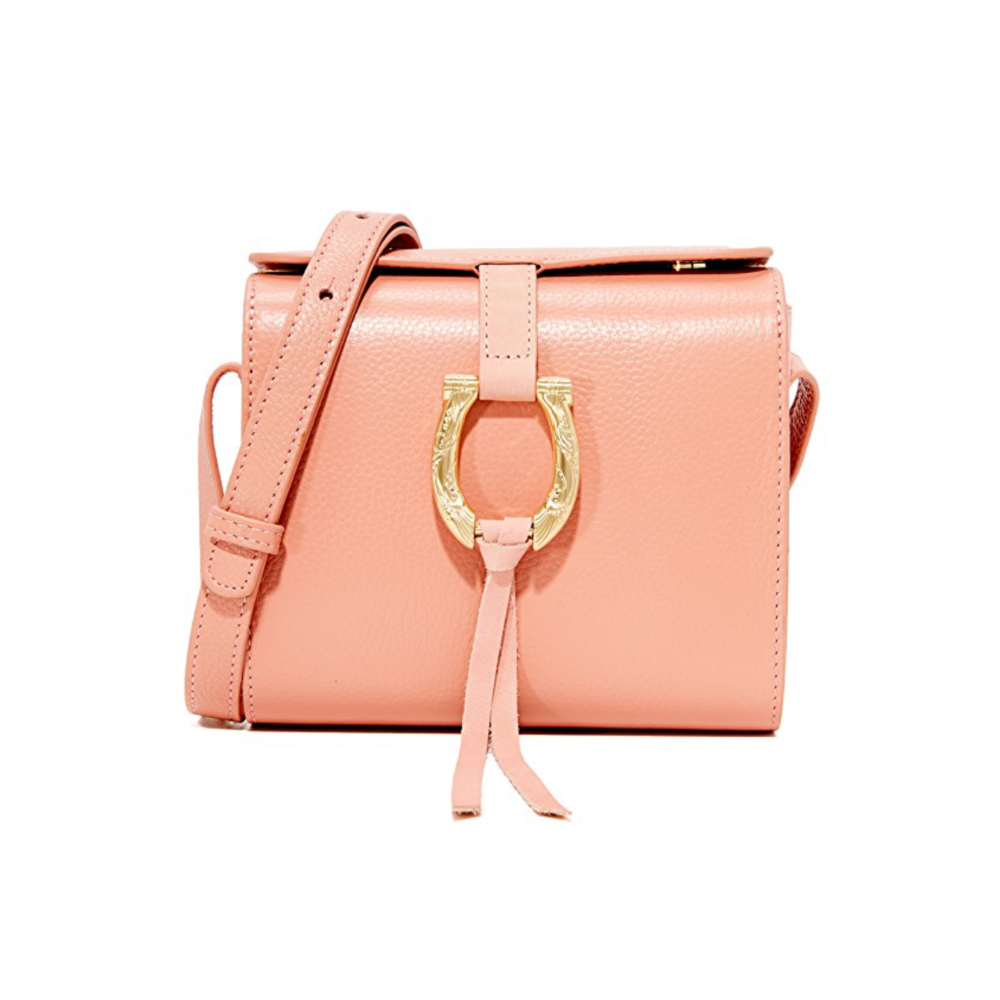 Sancia Madeline mini bag coral leather designer bag