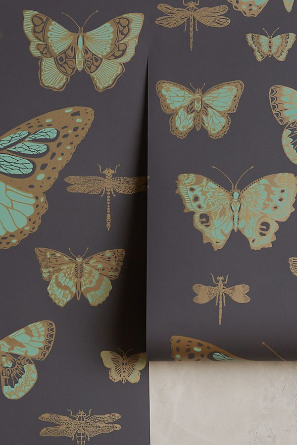 butterfly wallpaper from anthropologie