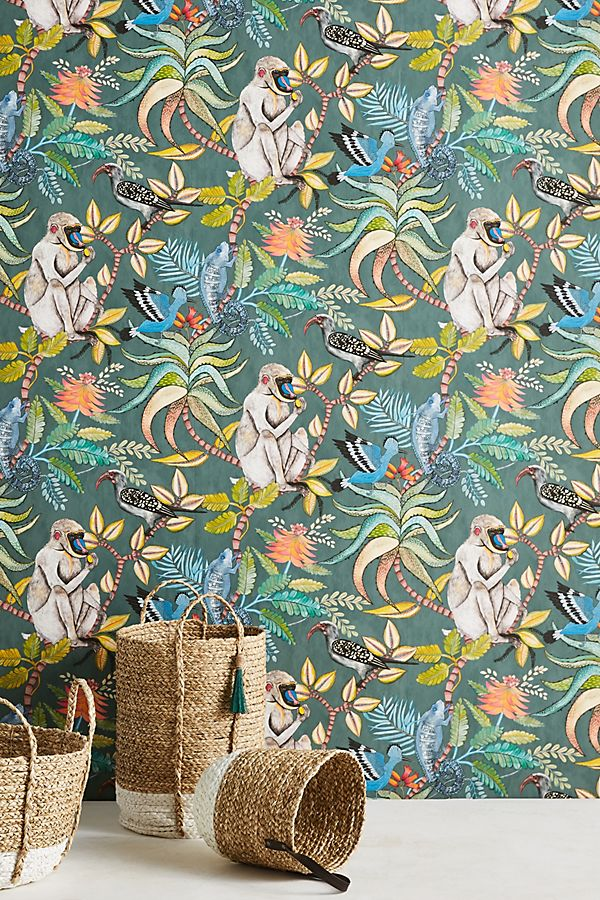 anthropologie canopy creature wall paper