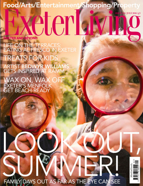 Shh by Sadie featured in Exeter Living Magazine July 2018