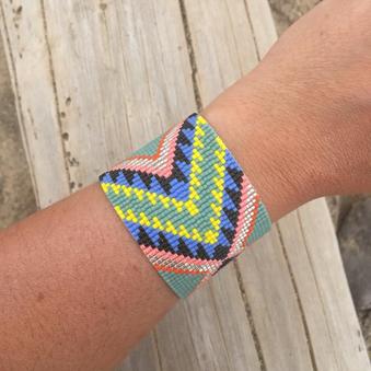 tribal print bracelet shh by sadie.png