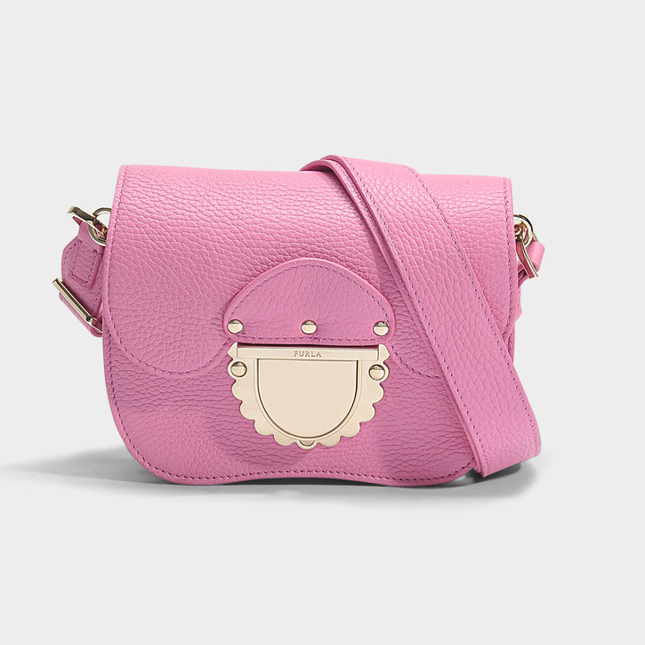 furla pink DUCALE MINI CROSSBODY BAG