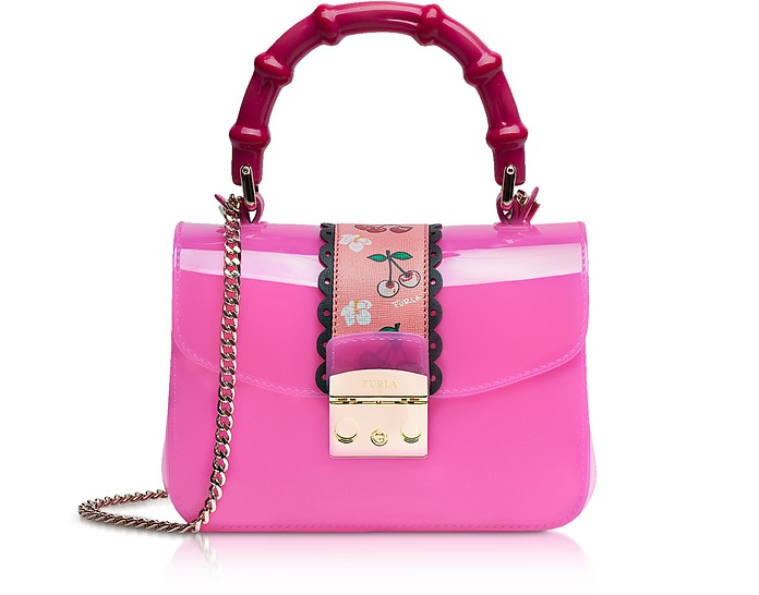 Candy Esotica Fuchsia Top Handle Mini Crossbody Bag