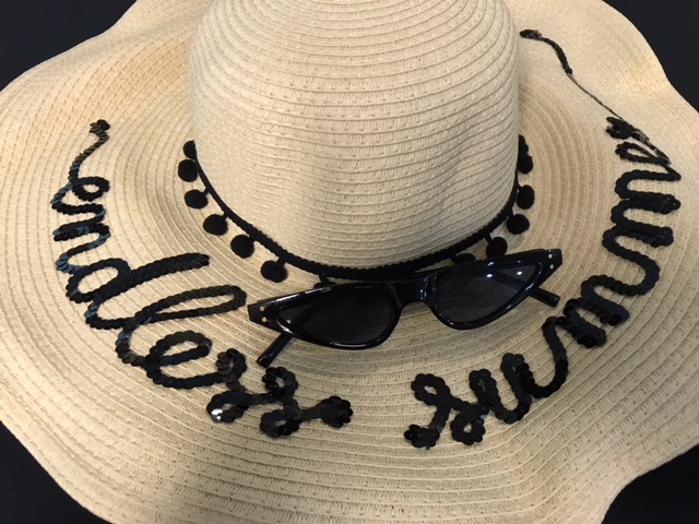Bits and pieces to go endless summer straw hat