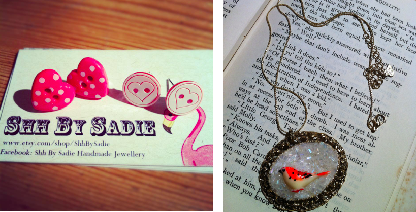 Shh by Sadie handmade statement jewellery