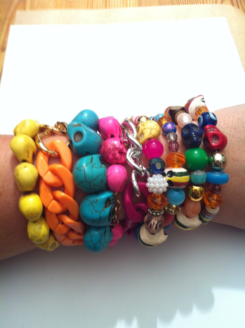 Skulls, chains and lots of colour!