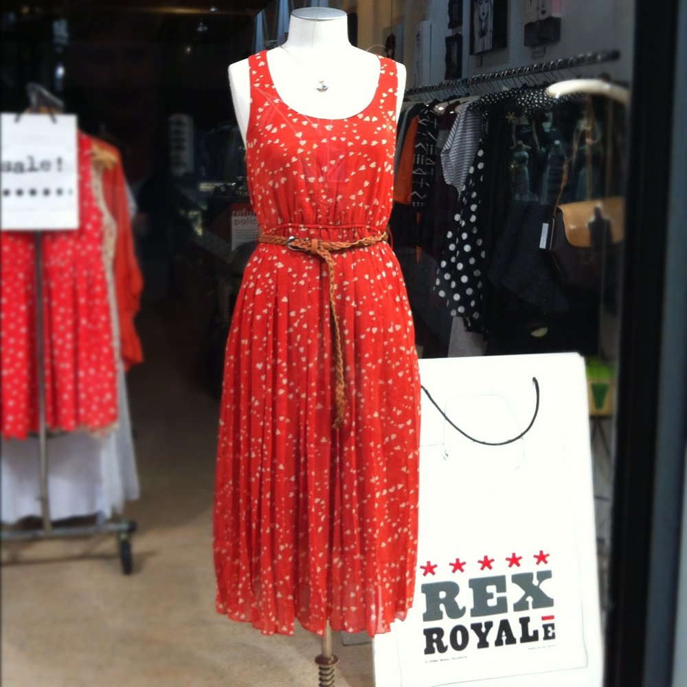 Featured in the Rex Royale's window display