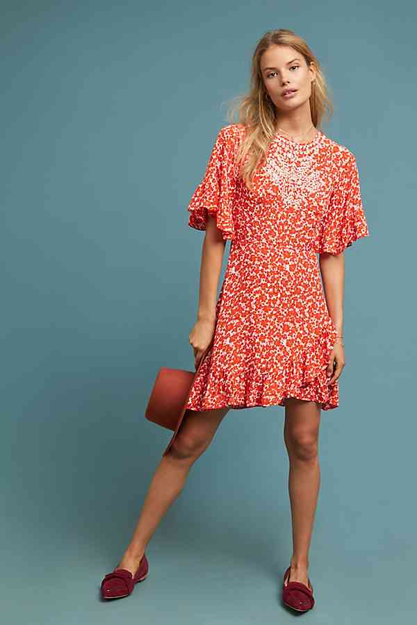 Midtown Embroidered Dress anthropolgie