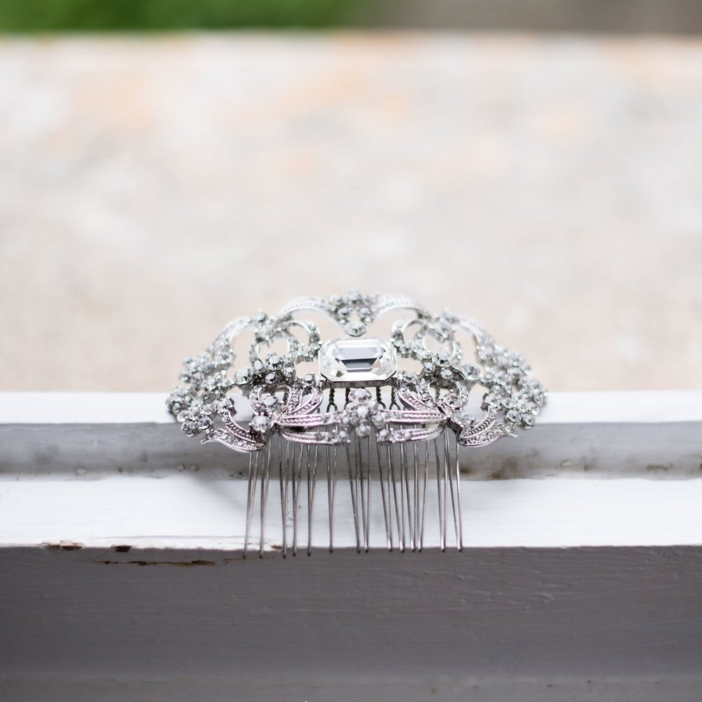 Crystal diamante bridal hair comb