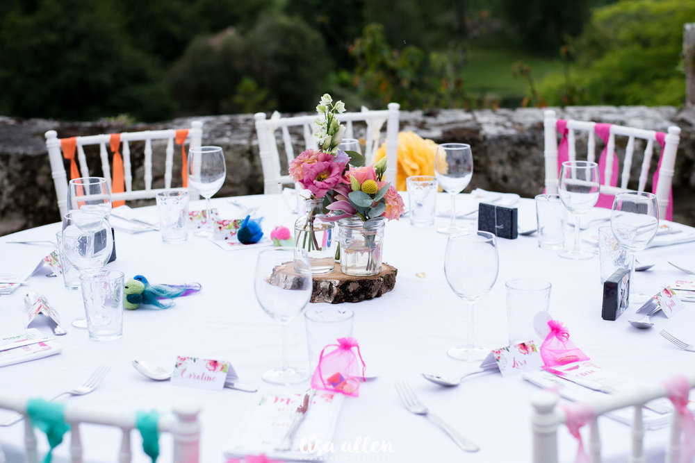 colourful wedding decor summer wedding