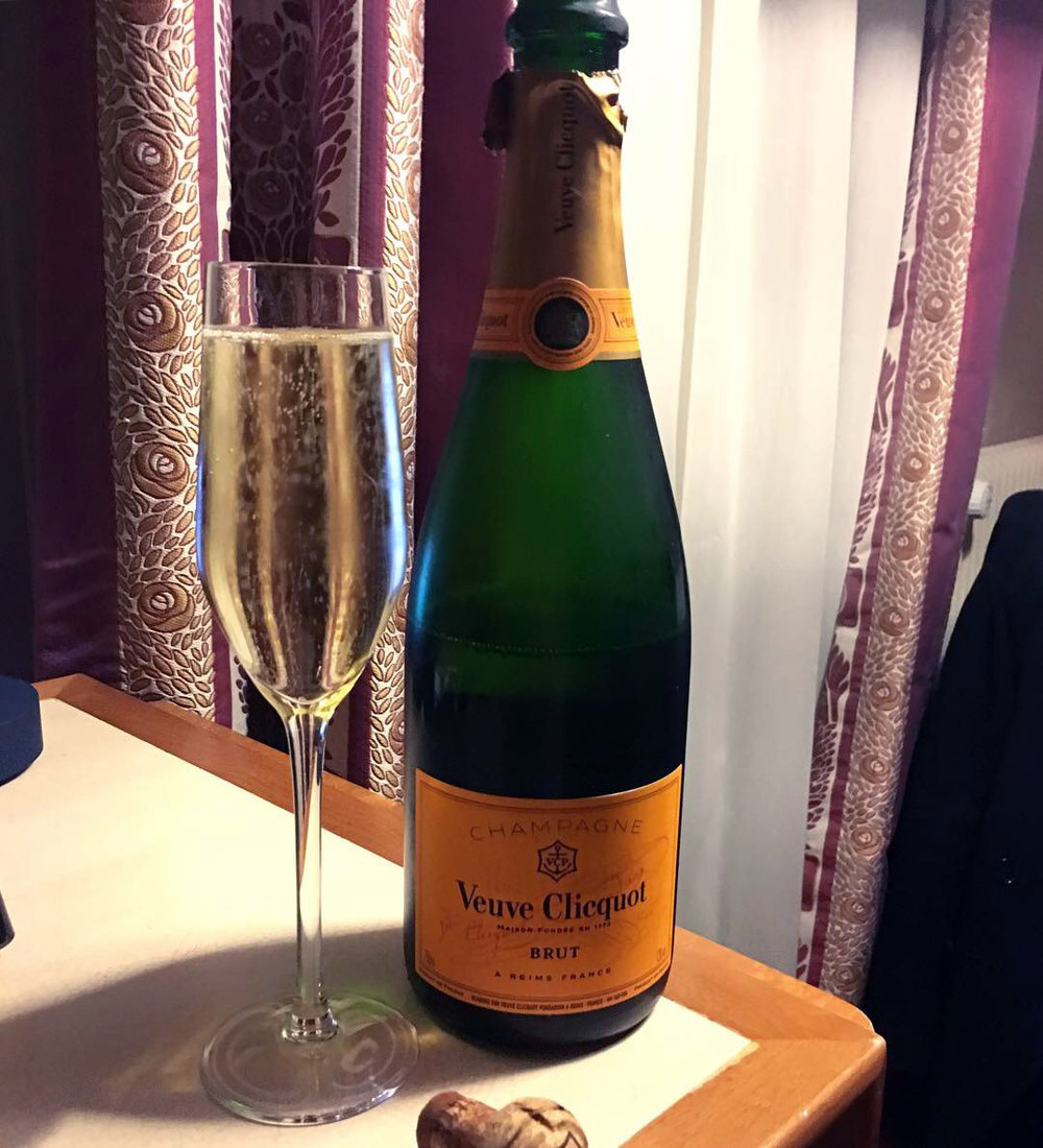 Veuve clicquot champagne New Years eve Paris