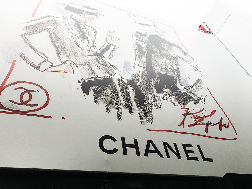The Rue de Cambon building site - we thought this was the current Chanel store closed for refurbishment. It was HUGE.
