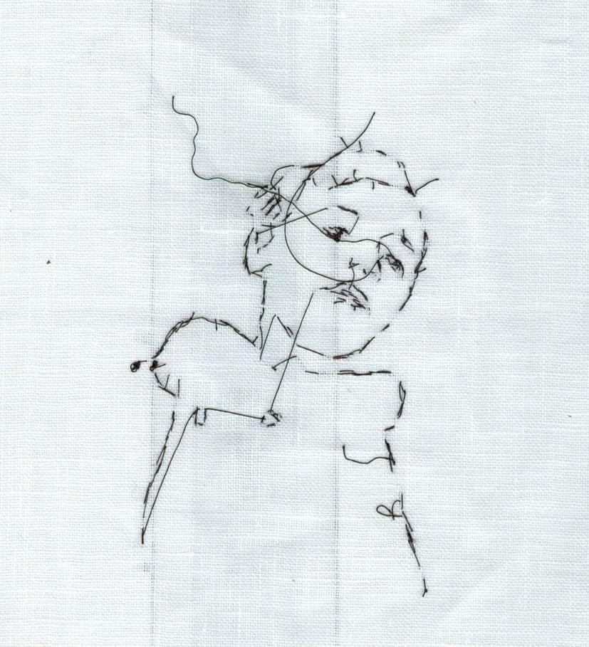 'Boy i ' 2009  30cm x 22cm    Cotton stitch on Linen.jpg