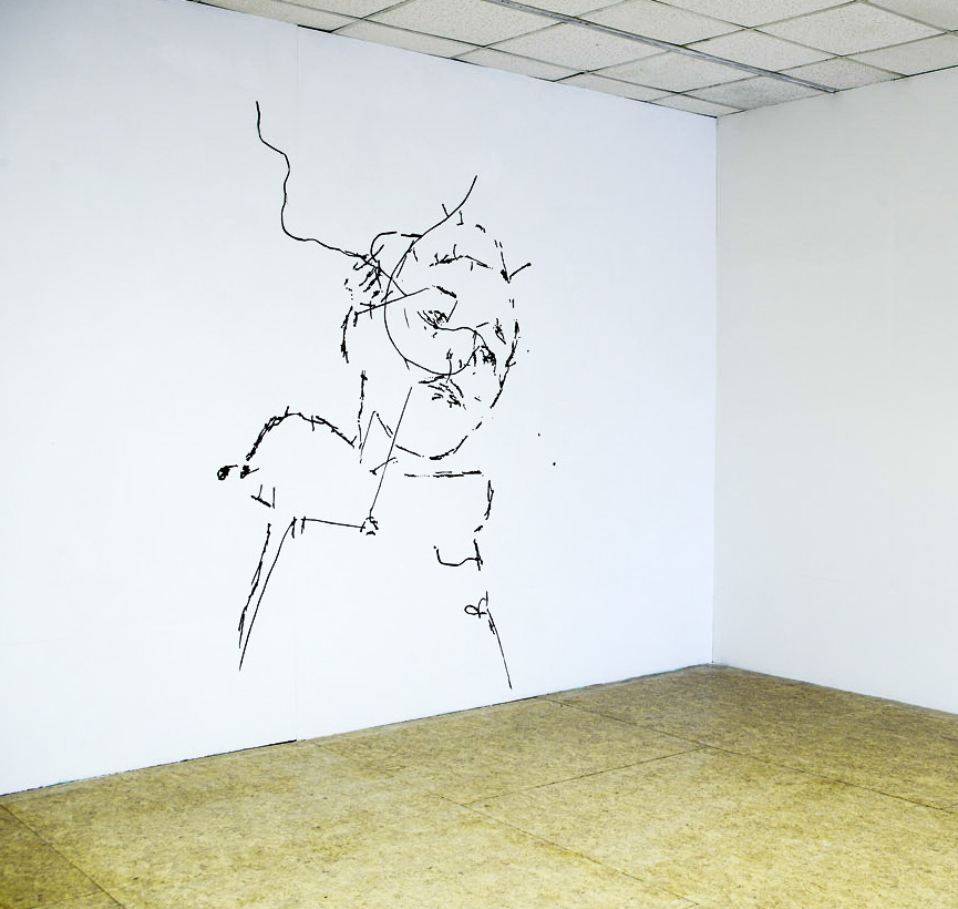 'Boy'   2010  160cm x 230cm  Fabric wall drawing.jpg