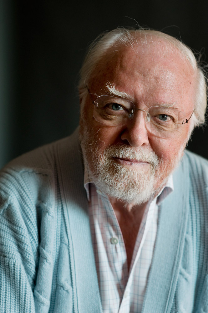 Sir Richard Attenborough. Celebrities at The cheltenham litarary