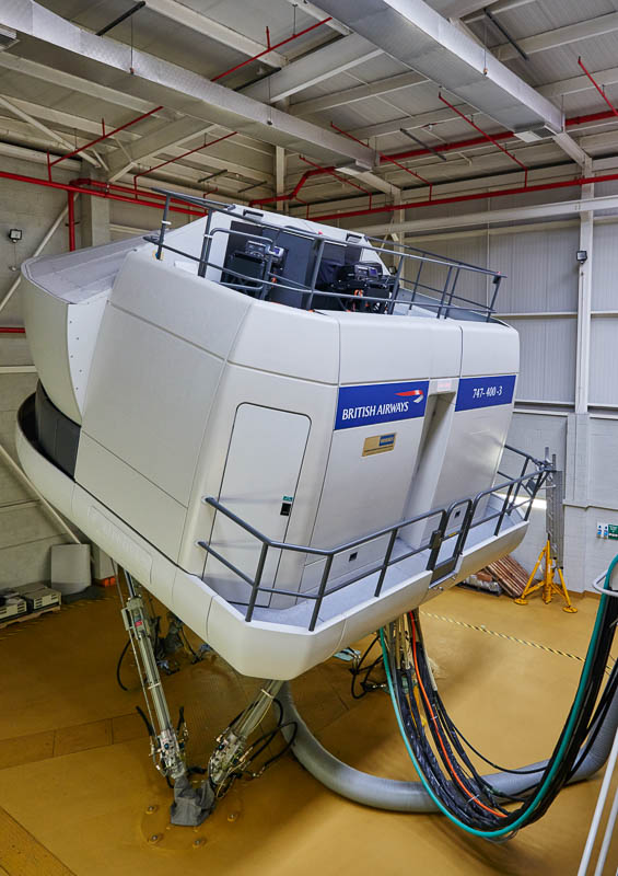BA Flight Simulator at the Cranebank centre in Heathrow