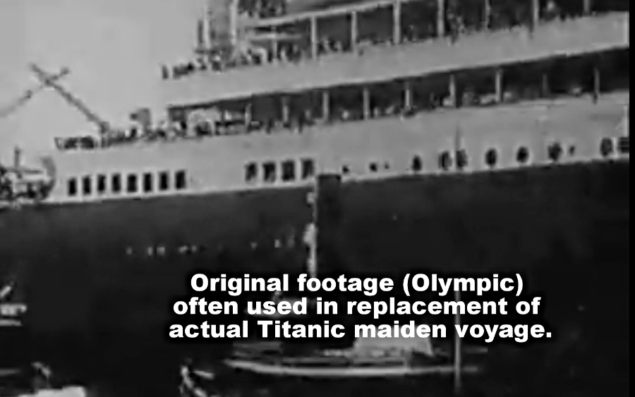 Original brand replacement footage for Titanic maiden voyage