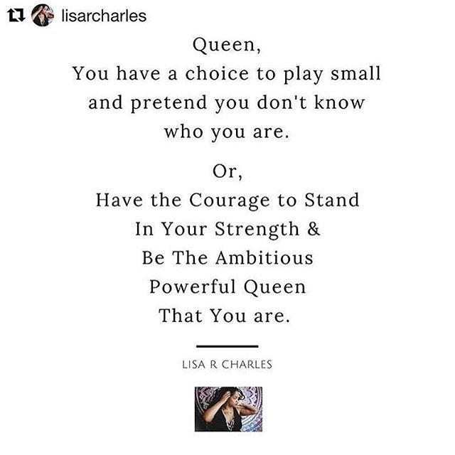Yes Queen! 👑 . . . . #inspirationfortheday #queen