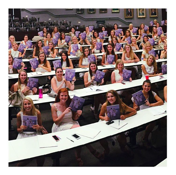 """I'm the New Member Chair of Phi Mu sorority at the University of Alabama, and I wanted to find a way to help our 145 new members get to know each other. We used Stephanie's workbook, and it was amazing to see walls broken down, barriers to cliques overcome, and a time each week for girls to be real and vulnerable during the difficult transition to college. It made all the difference in the world for their first 6 weeks of school!!"" - Mallory"