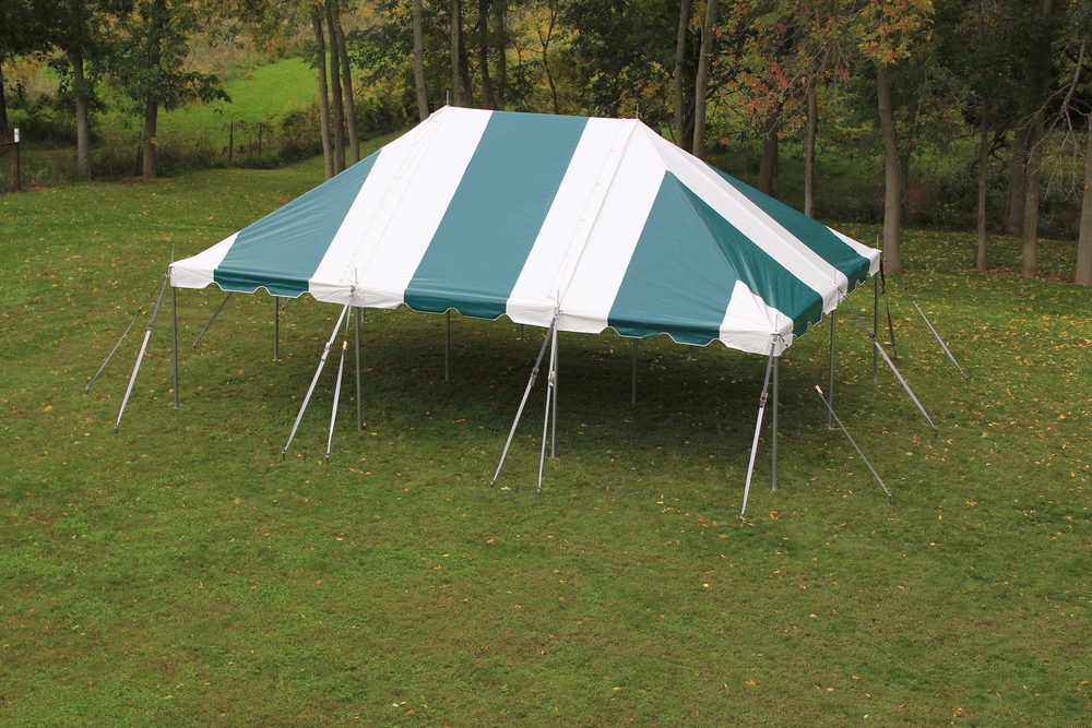 20x30 3pc White-Green Pole Tent (3).JPG : metal pole tents - memphite.com