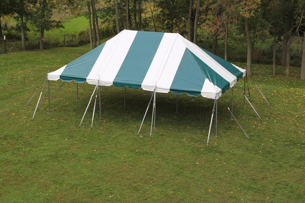 20x30 3pc White-Green Pole Tent (3).JPG