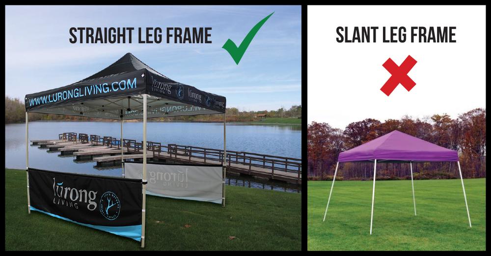 Straight Leg vs Slant Leg Pop-Up Canopy Frames & Straight Leg vs Slant Leg Pop-Up Canopy Frames u2014 Celina Tent ...