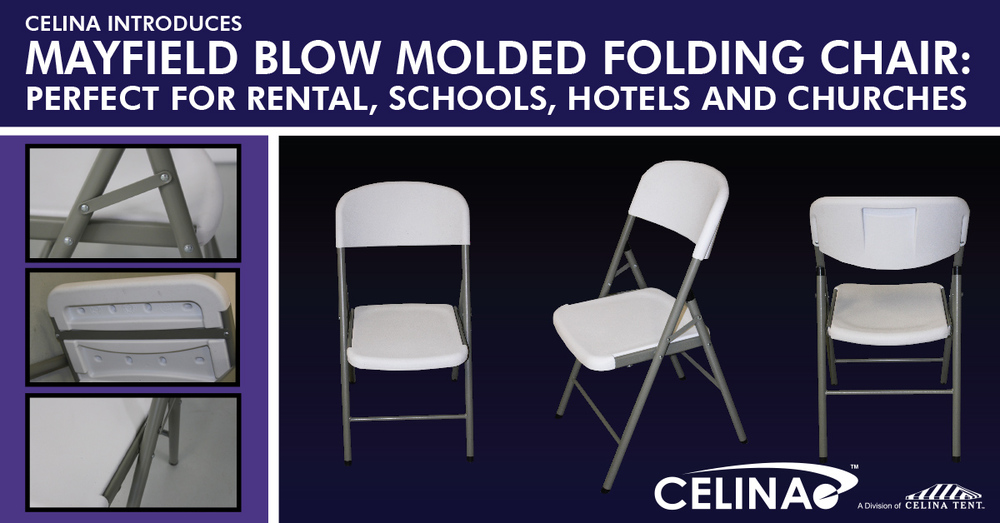 mayfield blow molded folding chair celina tent party tents