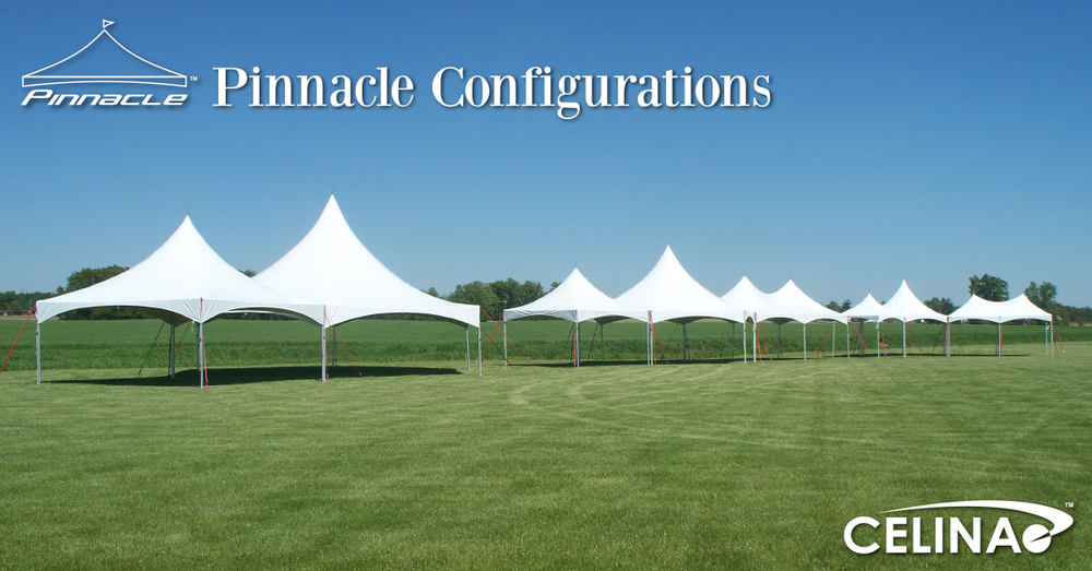 The Pinnacle Series High Peak Frame Tent may sound complicated but in fact is one of the most versatile tents Celina offers. & Pinnacle High Peak Cross Cable Party Frame Tent Configuration ...
