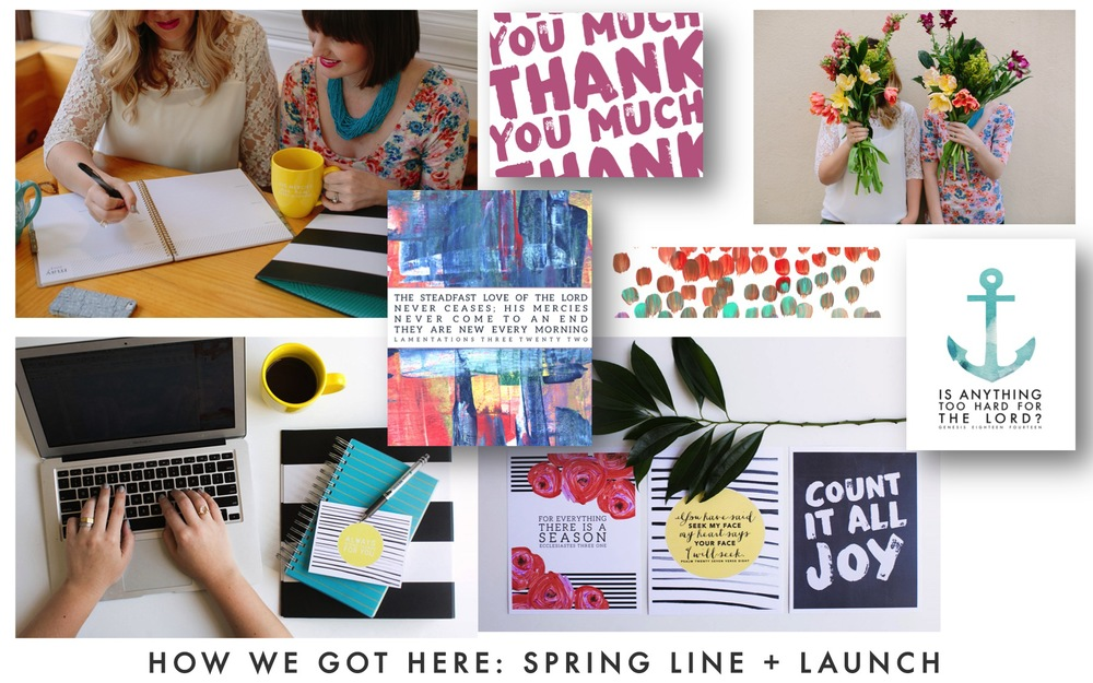 These were some of the prints, products, and website photos that resulted from the inspiration board!