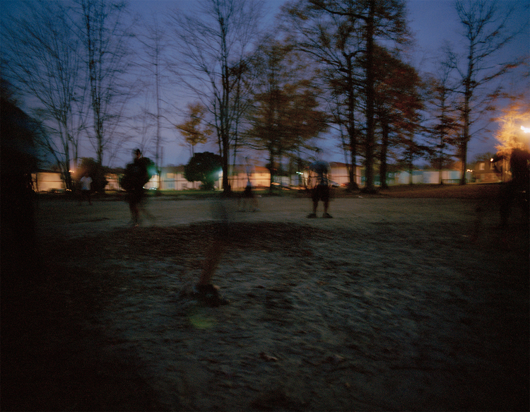 La Mancha's soccer field at night, 2013.