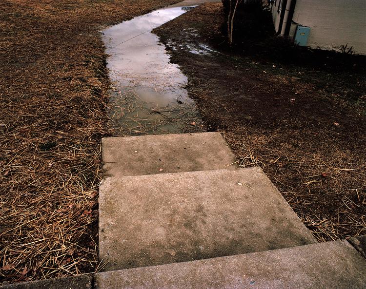 Flooded sidewalk, 2014.