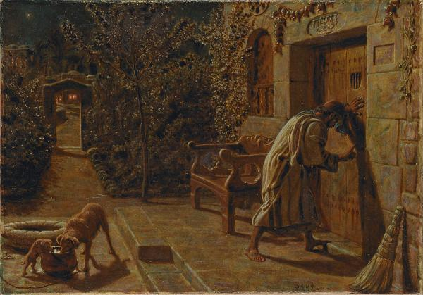 William Holman Hunt 's  The Importunate Neighbour  (1895)