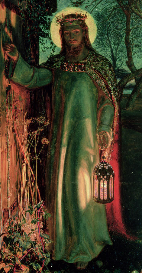 The Light of the World, c.1852 (oil on canvas) by William Holman Hunt