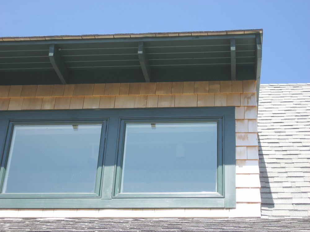 Detail at shed dormer